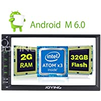 JOYING 7 Car Stereo 2GB 32GB Android 6.0 Head Unit Double Din Touch Screen Radio Auto Car Audio Indash GPS Navigation with Bluetooth WiFi Easy Connect