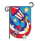 """U.S. Firecrackers Garden Flag Indoor/outdoor 13.5"""" X 18"""""""