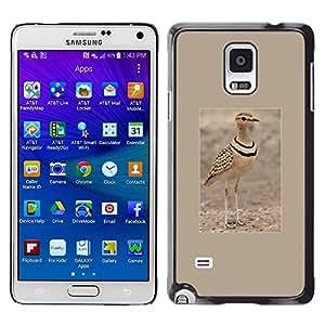 Pájaro del verano arena Cartel Marrón Naturaleza- Metal de aluminio y de plástico duro Caja del teléfono - Negro - Samsung Galaxy Note 4