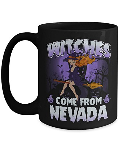 Halloween Mugs Coffee, Best Gift Halloween Day - Witches come from Nevada State Mug (Nevada Day Halloween)