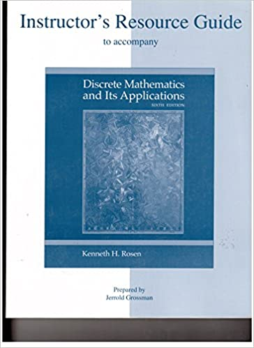 Discrete Mathematics By Rosen 7th Edition Pdf