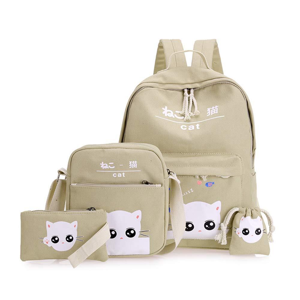 GUYIO Zaino Satchel School Bags 4 Set PCS Zaini da Scuola
