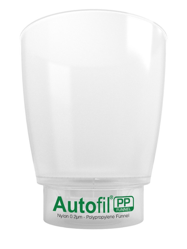Autofil PP - Disposable Vacuum Bottle Top Filters for Solvent Filtration, 1L (1000mL), GL45 Thread, Polypropylene Housing, Non-Sterile, (Pack of 12) Foxx Life Sciences 325-5451-FLS