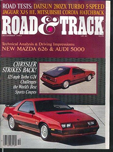 ROAD & TRACK Chrysler G24 Datsun 280ZX Jaguar XJ-S Mitsubishi Cordia + 12 1982