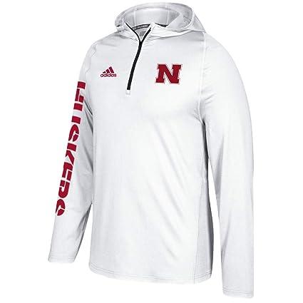 Amazon.com   adidas Nebraska Cornhuskers NCAA Men s White Sideline 1 ... e11131956