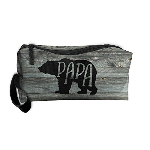 (Roomy Cosmetic Bags With Zipper For Travel Papa Bear Portable Ladies Hand)