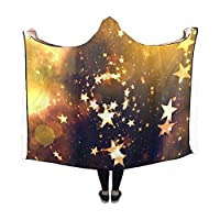 WUTMVING Hooded Blanket Star Galaxy Space Universe Astronautics Blanket 60x50 Inch Comfotable Hooded Throw Wrap