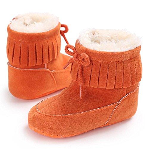 Baby Stiefel,Chshe Baby Weiche Sohle Stiefeln Weichen Schuhen Kleinkind Stiefel. Orange