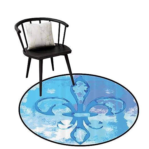 Alfombra Redonda con diseño de Flor de lis para Dormitorio, diseño ...