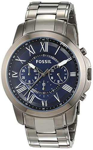 Fossil Men's FS4831 Grant Chronograph Smoke-Tone Stainless Steel Watch