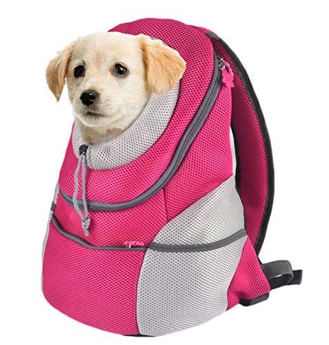 GUOWEIKD's store Portatile per Morbido Trasporto Passeggiate Esterna Come Un Dono Zaino da impermeabileZaino per Animali Domestici Traspirante e Comodo, rosa