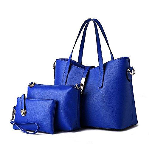 Shiraleah Print Clutch (Ryse Womens Classic Simple Exquisite Handbag Shoulder Bag Three Types Handbag(Blue))