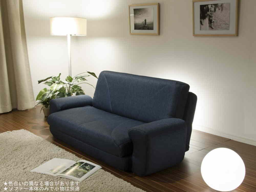 【日本製】 Sofa Bed COLICO ソファベッド A19 タスクネイビー B01D7308ZS