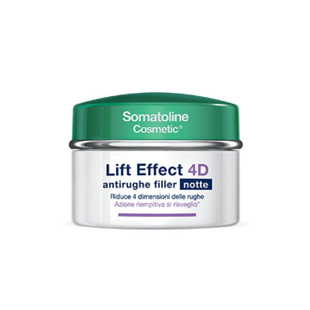 SOMATOLINE LIFT EFFECT 4D antirughe filler notte 50 ml nuova formula