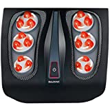 Shiatsu Foot Massager Machine Kneading Foot Massage with Heat, Feet Massage Plantar Fasciitis Great for Tired Feet, Chronic, Neuropathy, and Nerve Pain
