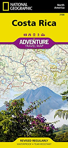 Adventure Geographic National Map Paper (Costa Rica Adventure Travel Map (Trails Illustrated))