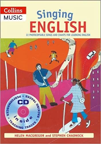 Book Singing English (Book + CD): 22 Photocopiable Songs and Chants for Learning English (Singing Languages)