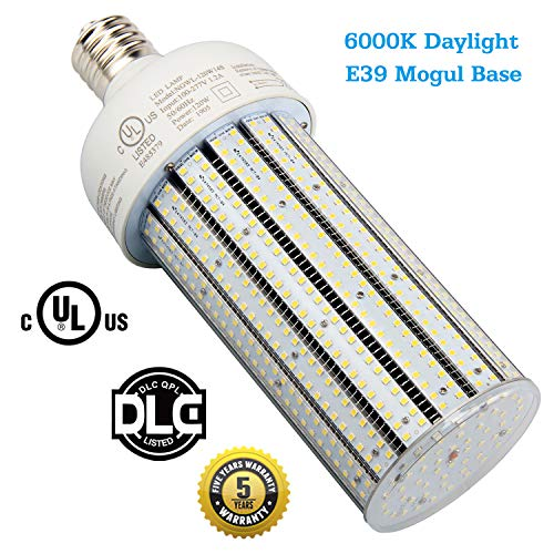 400 Watt High Pressure Sodium Replacement 120W LED Corn Bulb Mogul E39 Base Retrofit Flood Fixture,Commercial Security Light 6000K Daylight Parking Lot Street Lights