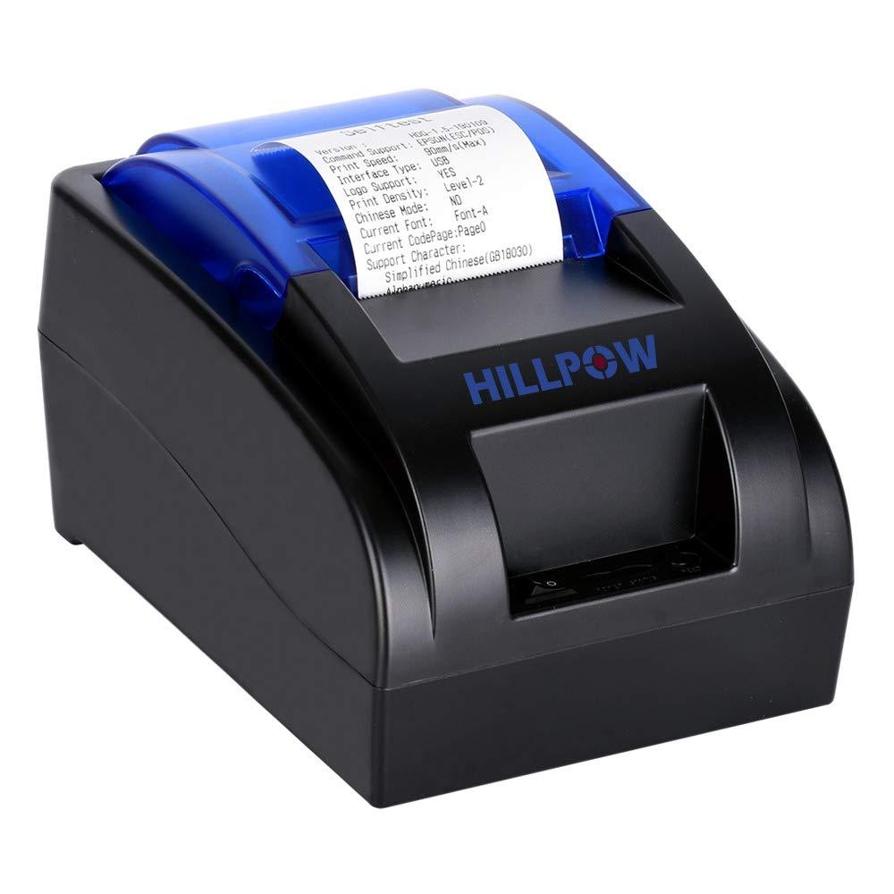 HILLPOW-Imprimante Thermique de Reçu 58mm ESC POS 90mm/secondo Connettore USB per Windows Linux