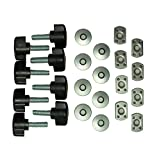 jeep bolts for hard tops - Universal Jeep Wrangler Hard Top Quick Removal Fastener Thumb Screw with Nut Kit --Set of 8