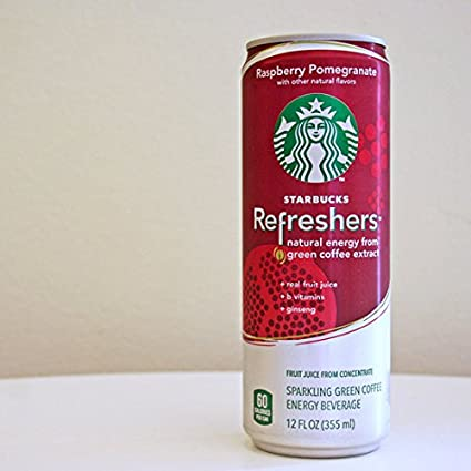 Starbucks refreshers Bebida Energética Frambuesa Granada 12 ...