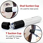 Electric Pore Cleaner, ATTUOSUN Facial Pore Cleaner Vacuum Suction Acne and Grease Extractor, Handheld Electric Blackhead Remover Skin Care Suction Machine Cleansing Tools(Black)