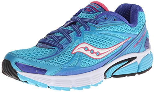 Saucony Women's Ignition 5 Running Shoe,Blue/Pink,6 M US