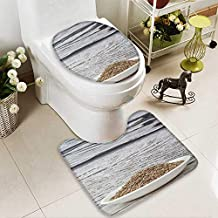 Analisahome U-Shaped Toilet Mat-Soft Dill herb Seeds in White Bowl Over Wooden Background 2 Piece Toilet Toilet mat