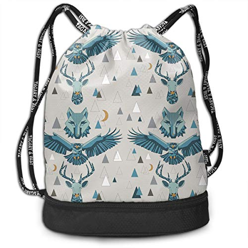 Drawstring Backpack Spirits And Stars Of The Mountains - Large Repeat Bags