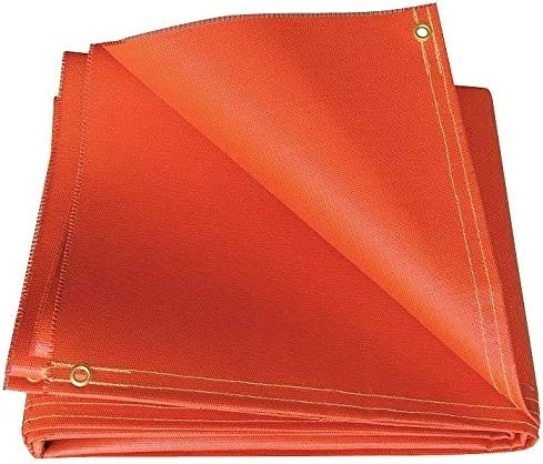 Hi Temp Silicone Coated Fiberglass Welding Blanket Red Height: 8 ft. R51-6X8-32-B Width: 6 ft.