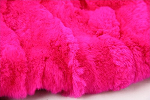 Parka XXL Cuello de auténtica piel de 100% Pelo Real Chaqueta Abrigo Caqui Rosa Rosa