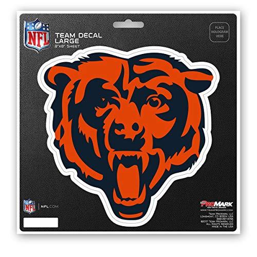ProMark NFL Chicago Bears Unisex Chicago Bears Decal Die Cutchicago Bears Decal Die Cut, Team Color, 8x8 ()