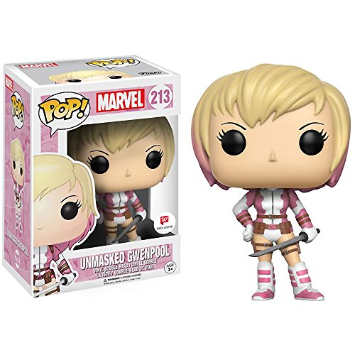 Funko Unmasked Gwenpool (Walgreens Exclusive) POP! Marvel x Gwenpool Vinyl Figure + 1 Free Official Marvel Trading Card Bundle (13187)