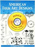 img - for American Folk Art Designs CD-ROM and Book (Dover Electronic Clip Art) by Joseph D'Addetta (2006-09-15) book / textbook / text book