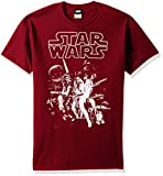 Star Wars Men's Official 'Poster' Graphic Tee, Cardinal, Large
