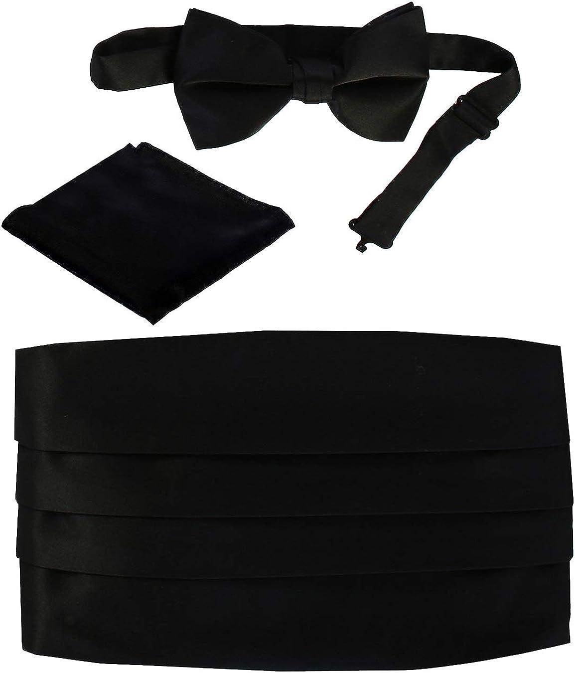 Brand new Multi-color Paisley Satin Tuxedo Mens Bow Tie//Pocket Square SET B1517