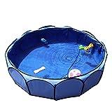 Petsfit Leakproof Fabirc Portable Dog Pool, Large, Sky Bule