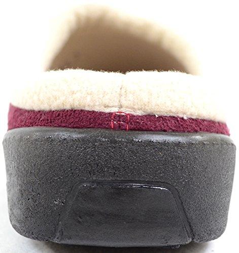 Snugrugs Dames / Dames Slip Op Slippers / Muiltjes Met Warme Fleece Voering Bordeauxrood