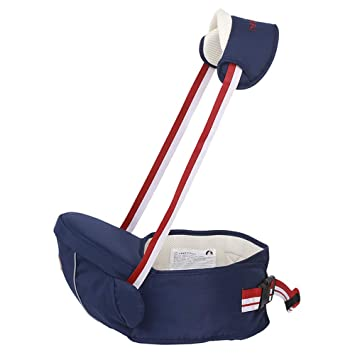 Baby Carrier Lightweight Hip Seat Carrier Multifunctional Front Hipseat Baby Waist Stool Baby Seat with Adjustable Strap Removable Shoulder Strap for 0-36 Month Baby