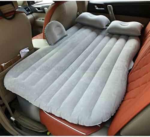 Car Self-drive Air Bed Sleeping Seat Inflatable Back Seat Mattress + Pillow/Pump Gray