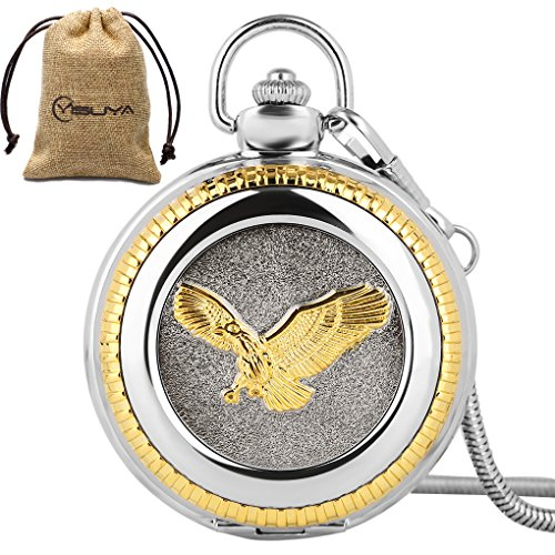 Vintage 3D Golden Flying Eagle Silver Snake Chain Luxury for sale  Delivered anywhere in USA