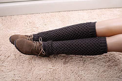 MoonyLI 1 paar gebreide winterlaarzen voor dames, warme lange laarzen, mode, beenwarmers, voetloze sokken, winter, hoog…