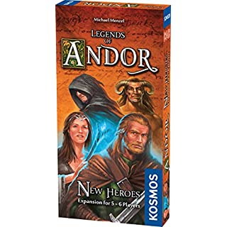 Thames & Kosmos Legends of Andor New Heroes 5 and 6 Player Expansion Cooperative, Family, Strategy Board Game by Kosmos | Expand The Award Winning Game Legends of Andor, Multi, 11.6 (692261)