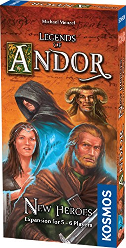 Legends of Andor New Heroes 5 and 6 Player Expansion Cooperative, Family, Strategy Board Game by Kosmos | Expand The Award Winning Game Legends of Andor