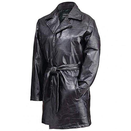 Giovanni Navarre Ladies Italian Stone Design Genuine Leather Jacket