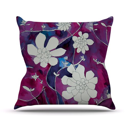 Kess InHouse Theresa Giolzetti Succulent Dance III Outdoor Throw Pillow, 26 by 26-Inch by Kess InHouse