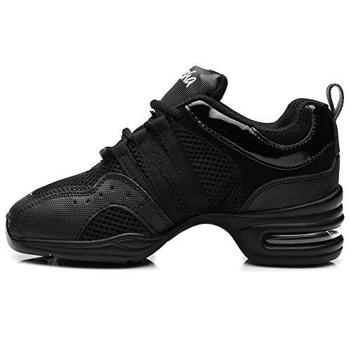 Roymall Uomo E Donna Boost Dance Sneaker / Moderno Scarpe Da Ballo Jazz Da Ballo Scarpe Da Ginnastica Scarpe Da Ginnastica, Modello B55 / B56 Black-1