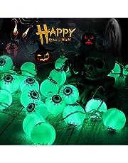 LITAKE Halloween lichtketting oogappel groen 5 m 30 leds op batterijen waterdicht Halloween lichtsnoeren ogen met afstandsbediening realistische oogappelverlichting met 8 modi voor feestjes buiten binnen