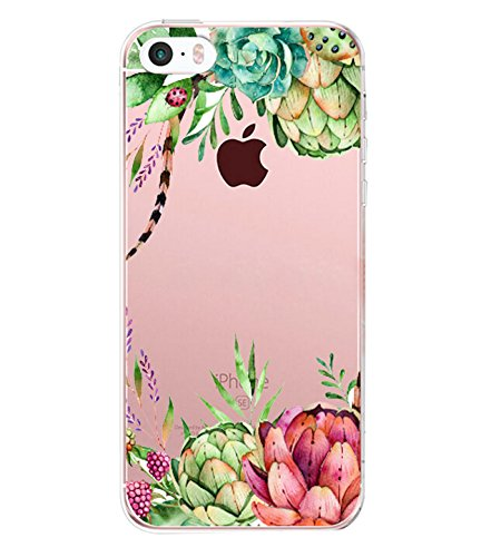(iPhone 5/5s/SE Case TPU Silicone Rubber Cute Anti-Scratch Slim Ultra Protective Clear Shock-Absorption Bumper Soft Amusing Design for Apple i Phone5 Cover (color 19, iPhone 5/5s/SE) )