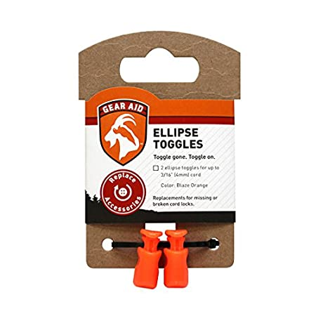 Gear Aid Ellipse Toggles Replacement Cord Locks Gear Aid Ellipse Toggles Kit Blaze Orange One Pair 80310
